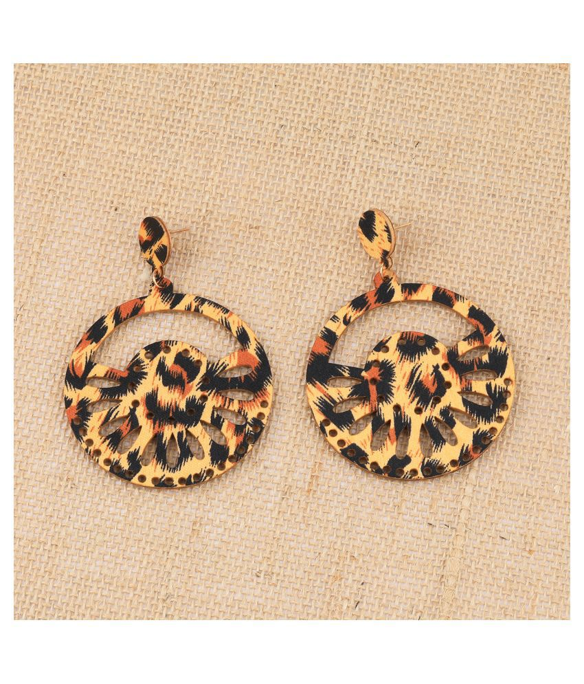 Exclusive Natural Dangler Wooden Earrings For Girls and Women