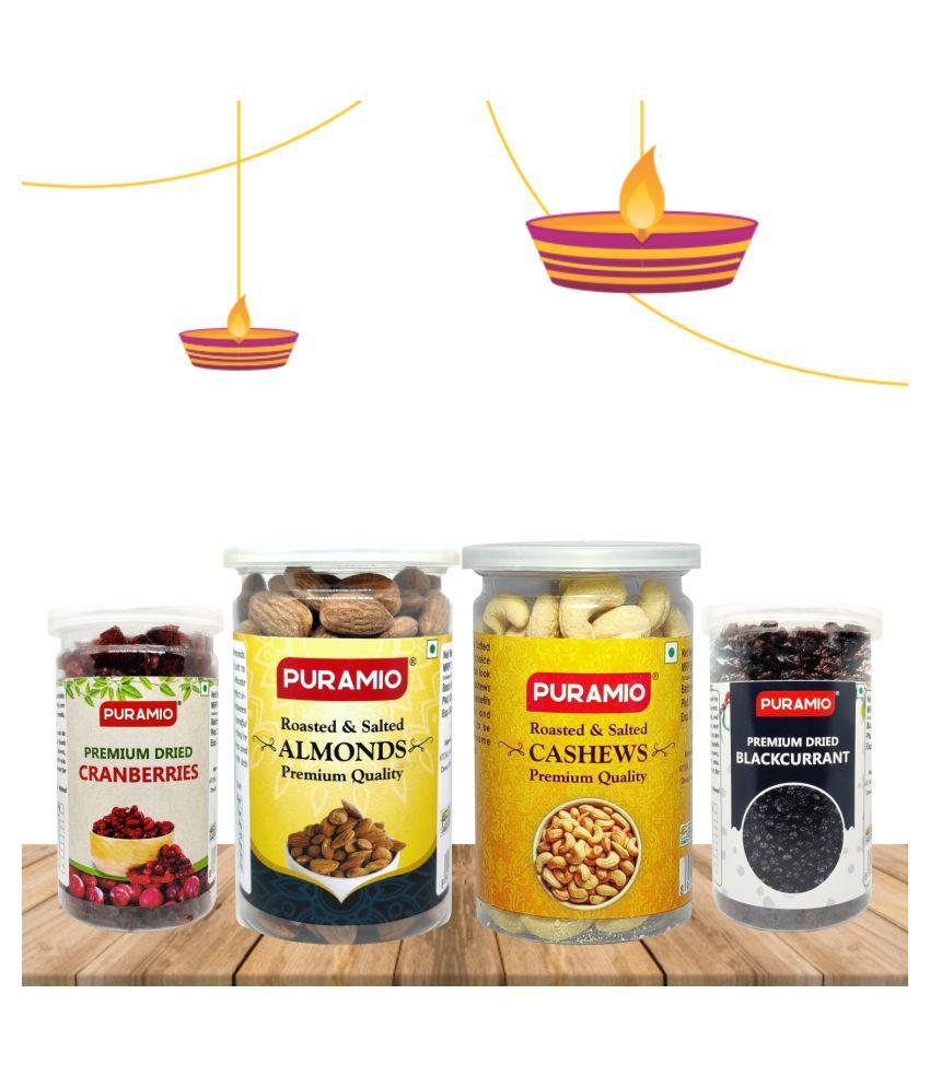 PURAMIO Gifting Combo Of- Premium Dry Fruits (PACK OF 4) 750 g