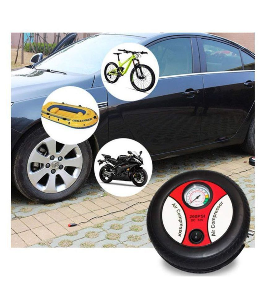 Portable Electric Mini DC 12V Air Compressor Pump for Car and Bike Tyre Tire Inflator for Cars and Bike and any other use.