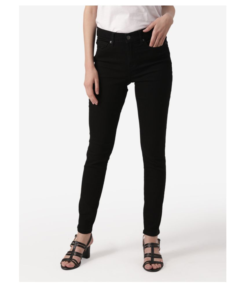 Mode By Red Tape Cotton Jeans - Black