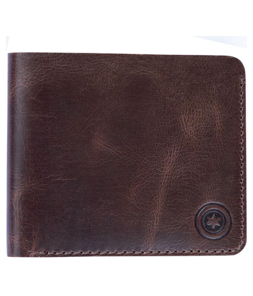 POLLSTAR Leather Brown Sport Traveller Wallet