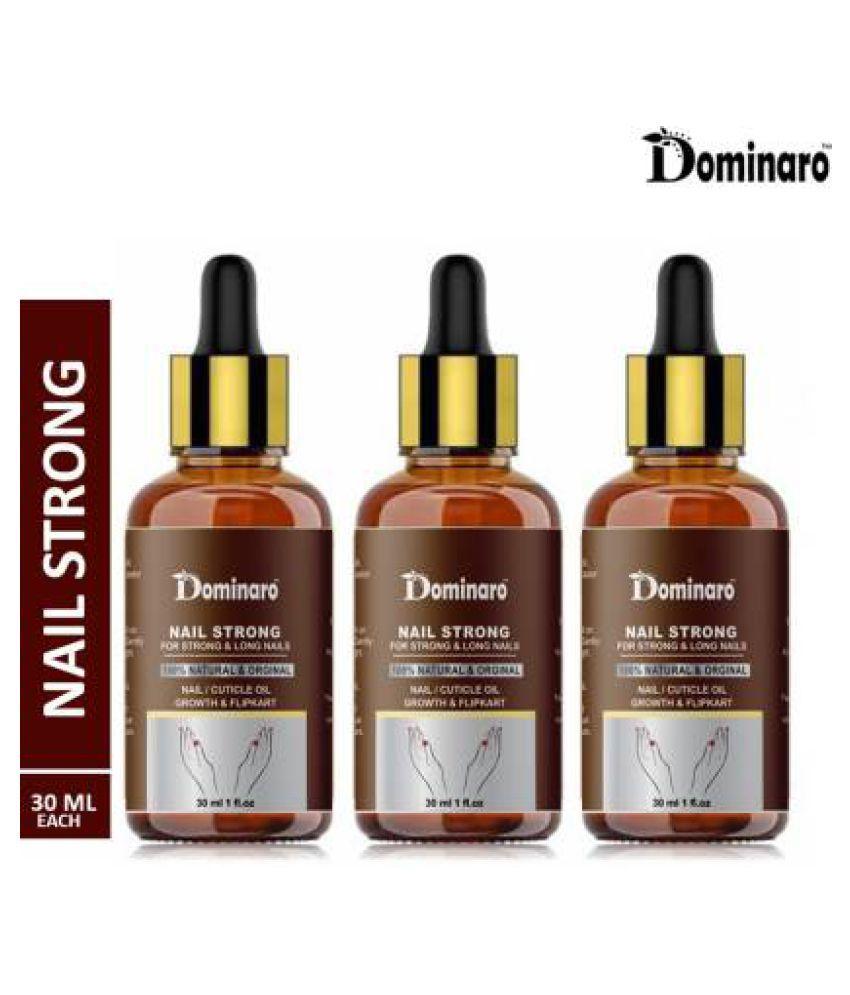 Dominaro Nail & Cuticle Oil- For Nail Growth Nail Polish Yellow Glossy Pack of 3 90 mL
