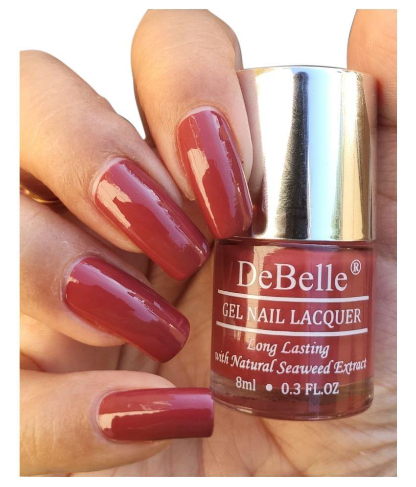 DeBelle Scarlet Ruby Nail Polish Pastel Maroon Glossy 8 mL