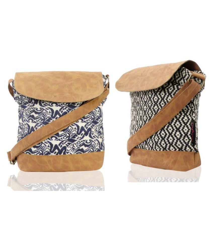 INDOFAS Assorted Fabric Sling Bag