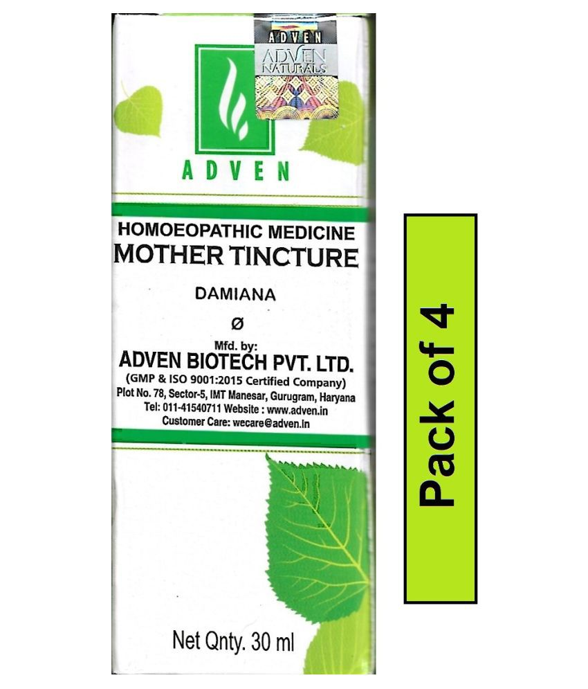 Adven Damiana Q Mother Tincture Liquid 30 ml Pack Of 4