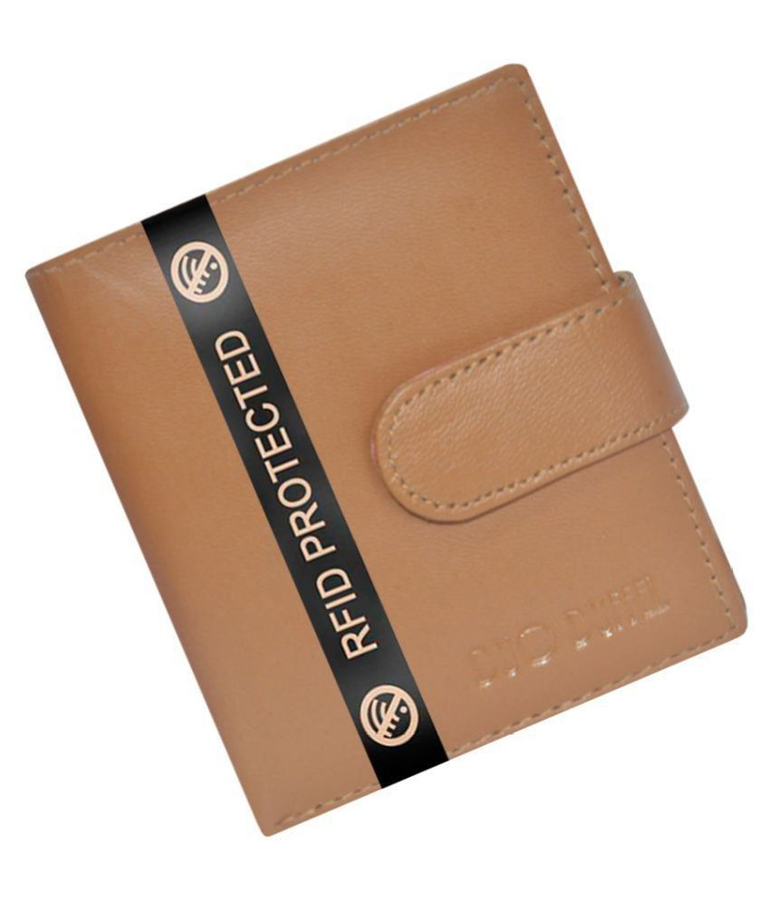 DUO DUFFEL RFID Protected Genuine Leather Credit Card Holder