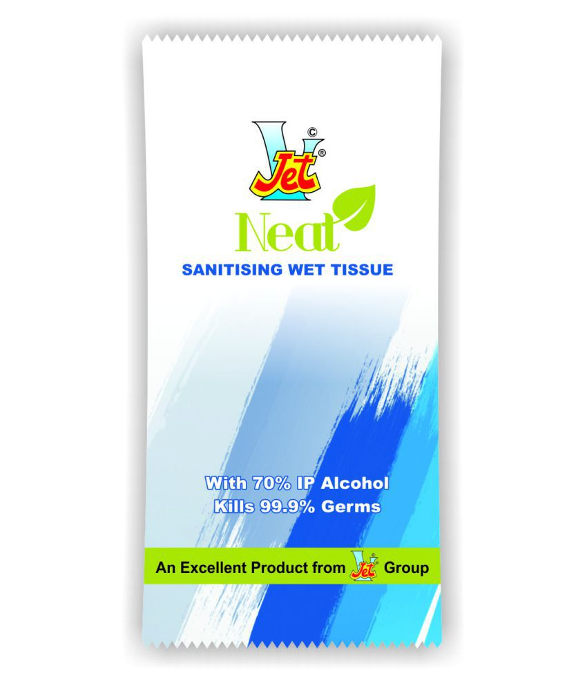 Jet Sanitizing Wipes Sanitizers 600 mL Pack of 100