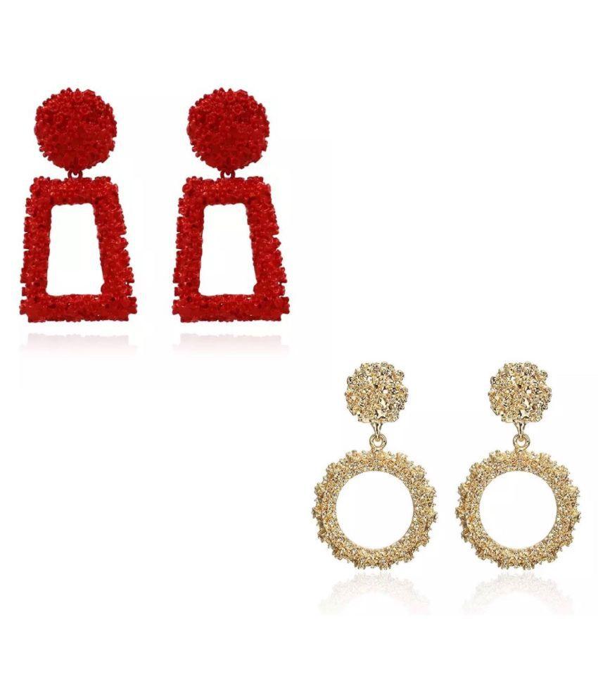 Set Of 2 Geometrical Metal Earrings