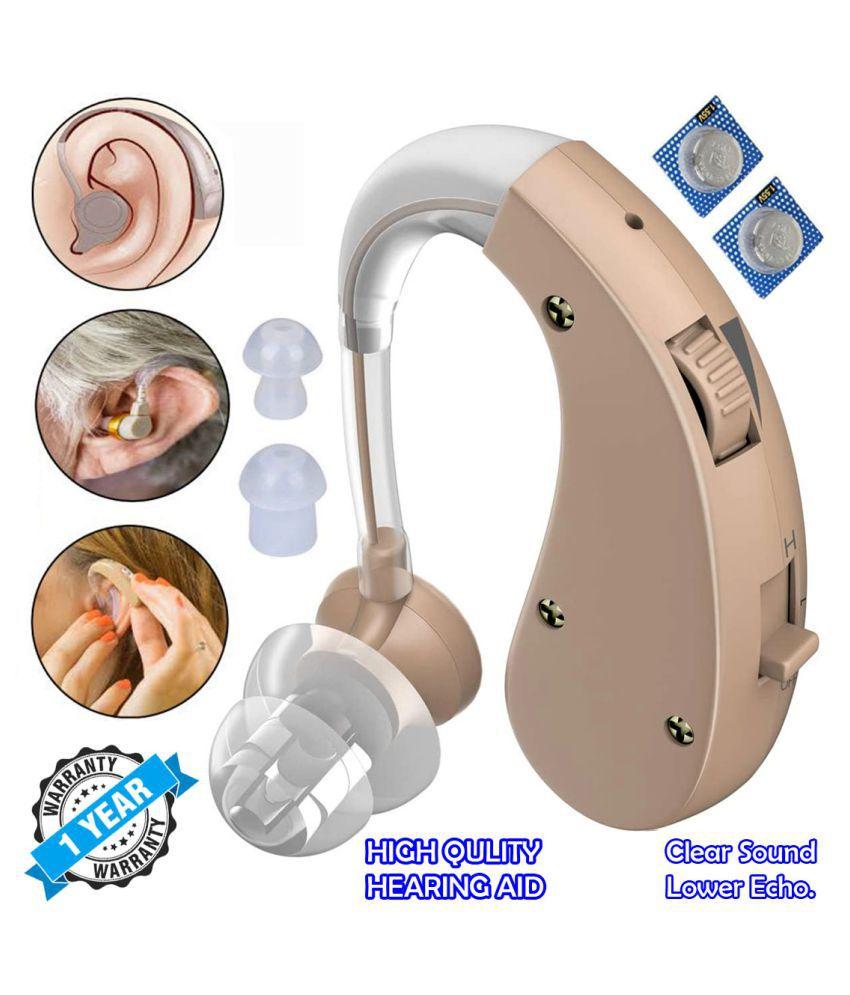 DMV Behind The Ear Mini Hearing Aid Sound Voice Enhancement Amplifier Sound Booster Hearing Aid 1 Year Warranty