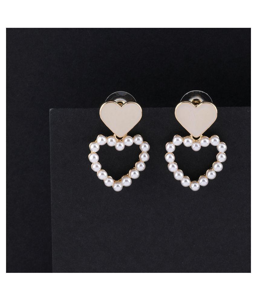 Party Wear Designer Heart Shape Stud Earring For Women Girl