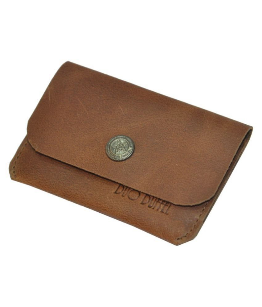 DUO DUFFEL Genuine Hunter Leather Credit Card Holder