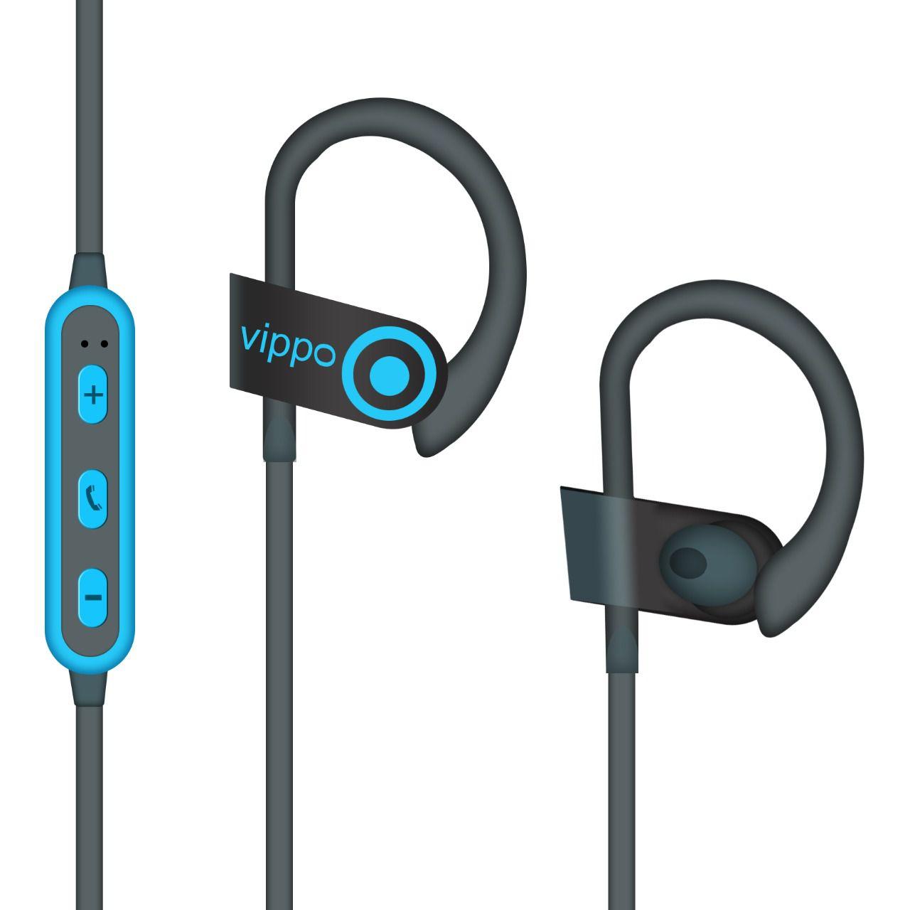 Hitage Vippo Qc 10 Mobicafe QC1086mc Wireless Bluetooth Headphone Blue