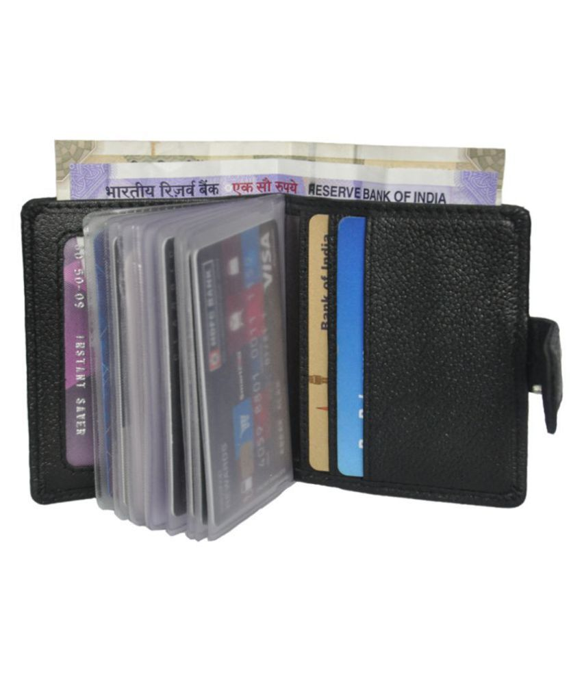 RFID Protected Genuine Leather 18 Slots Card Holder