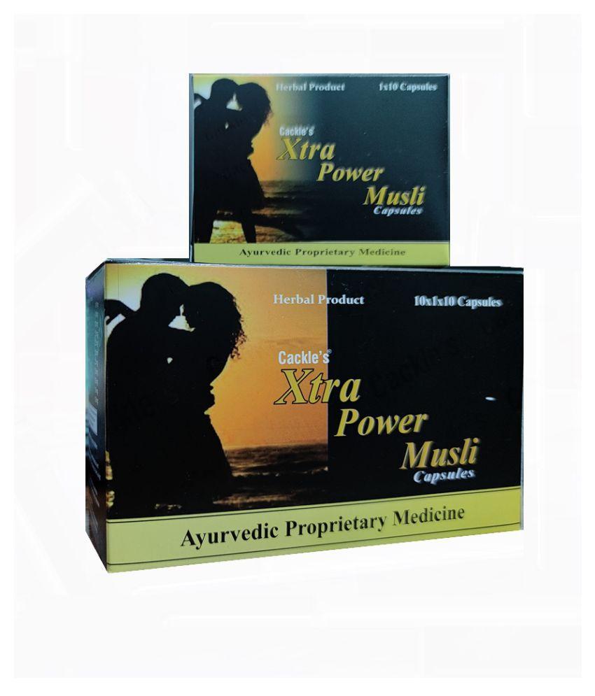 Ayurvedic Cackle's Xtra Power Musli Capsule 10 no.s Pack Of 10