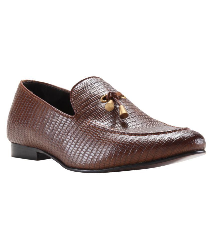 Franco Leone Office Tan Formal Shoes