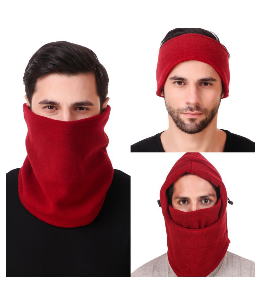 Snugg Fit Red Plain Polyester Caps