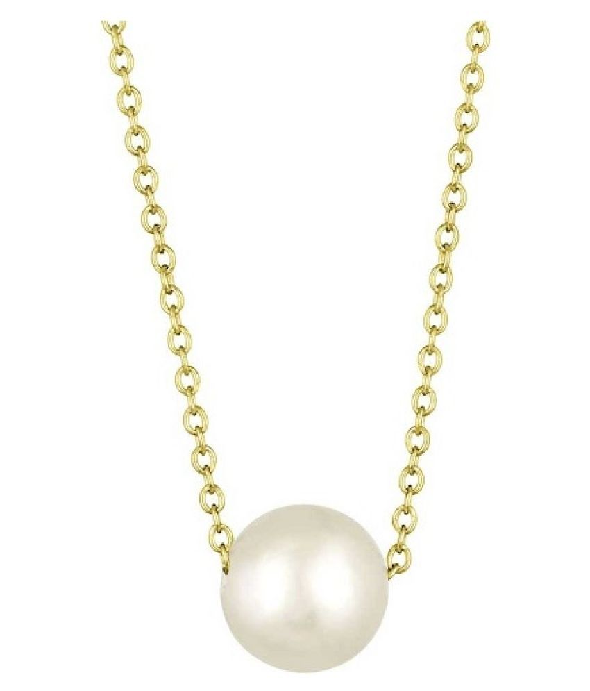 9 Ratti Pearl Pendant with Natural Gold Plated Pearl Stone without chain by Ratan Bazaar