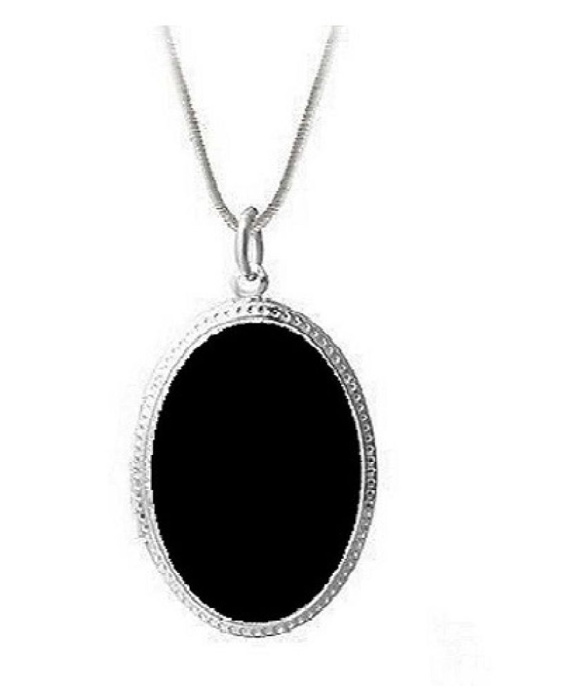 9 carat pure Sulemani Hakik Silver Pendant without chain by Ratan Bazaar \n