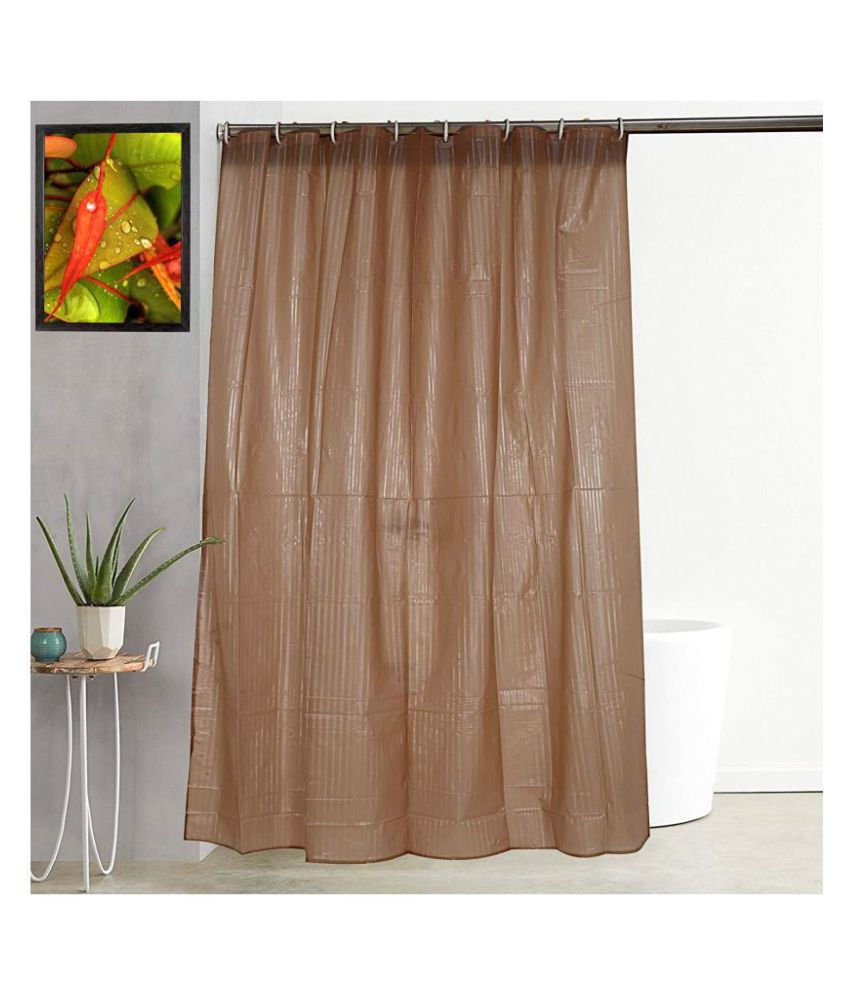 A&H Single Shower Curtain Brown Others