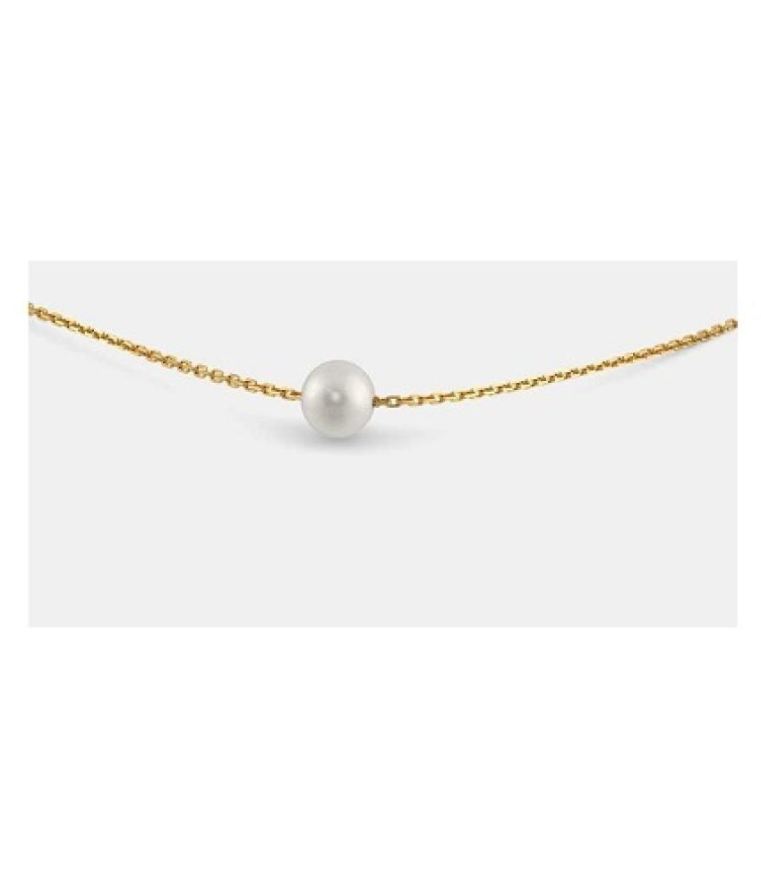 Gold Plated 9.5 Carat Classic Pearl Pendant without chain by Ratan Bazaar