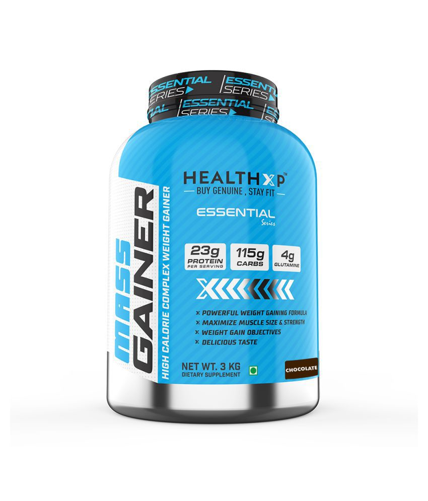 HealthXP Essential Series 3 kg Mass Gainer Powder