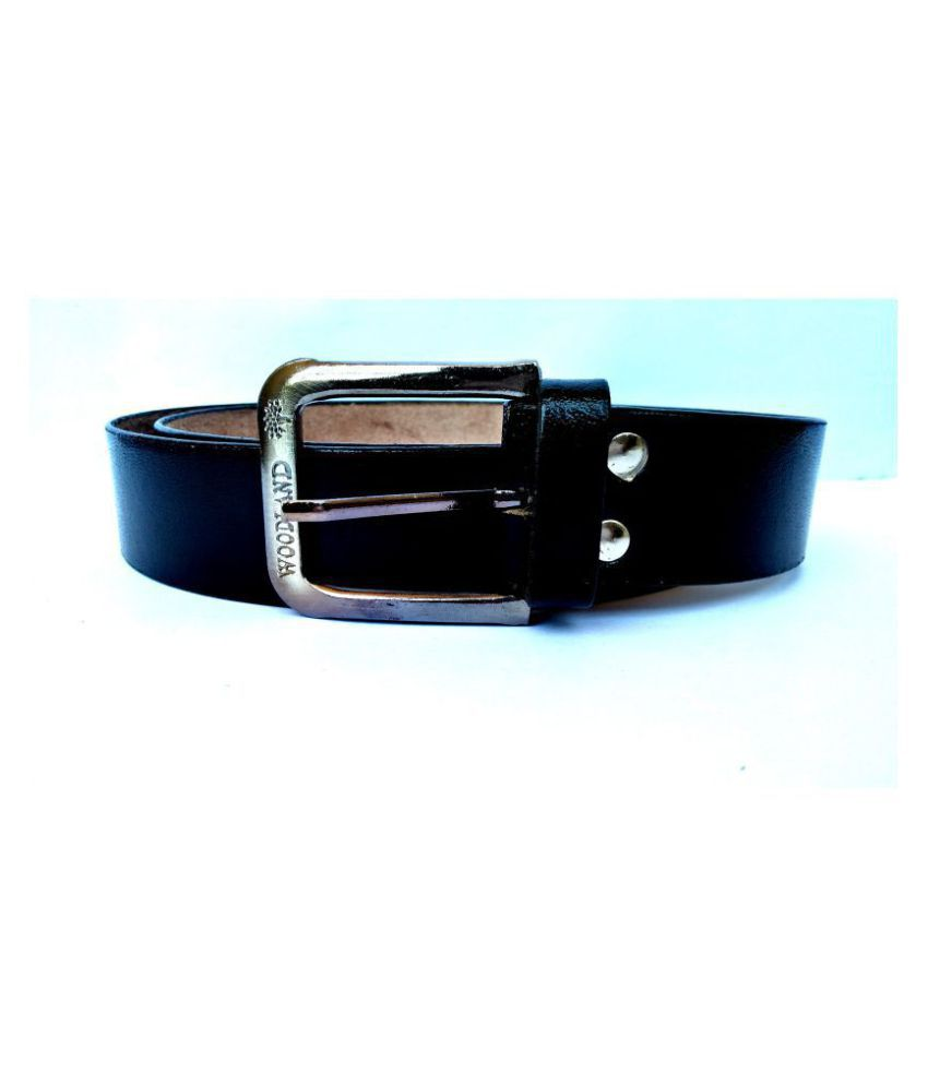 LEATHER BELT Black Leather Formal Belt