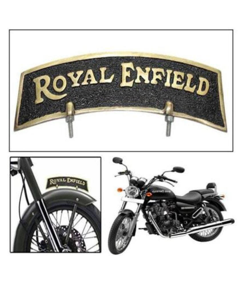 Mudguard Number Plate  Brass For Royal Enfield Classic 350cc 500cc , Standard , Electra