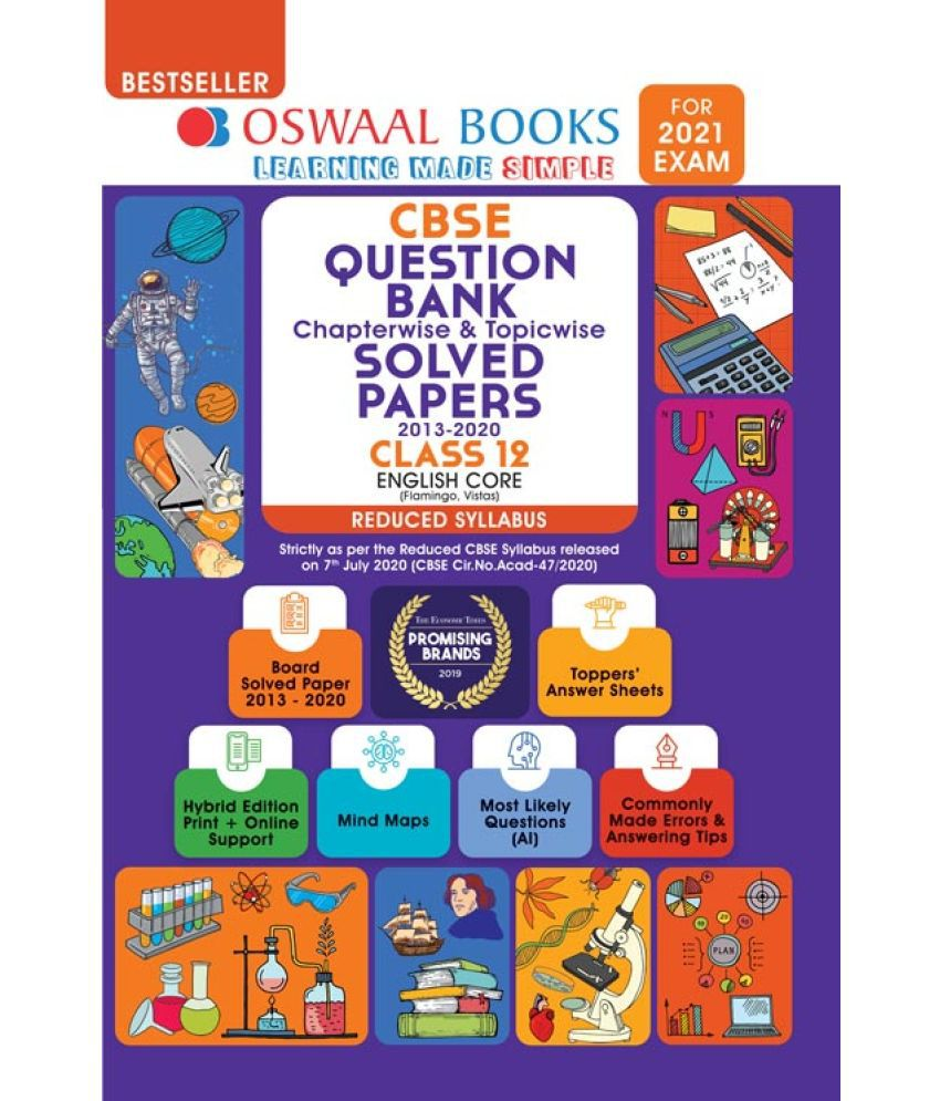 Oswaal CBSE Question Bank Class 12 English Core Chapterwise & Topicwise Solved Papers (Reduced Syllabus) (For 2021 Exam)