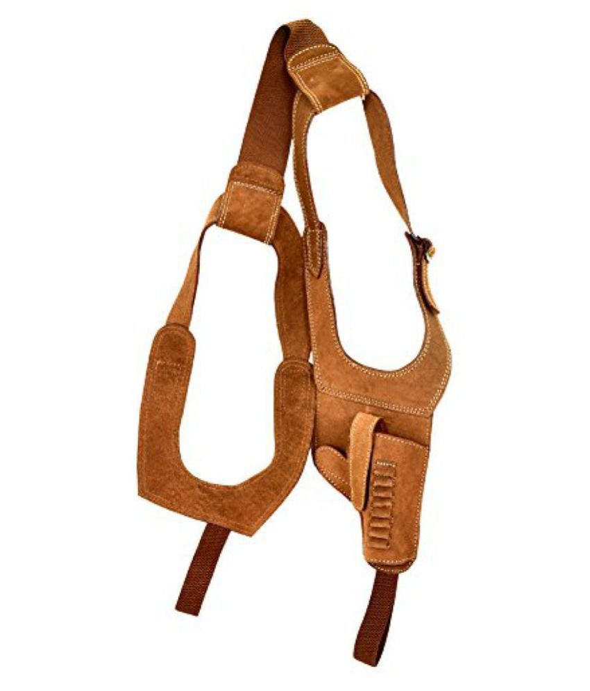 Swed Leather Golden Calf Brown Free Size Chest Holster