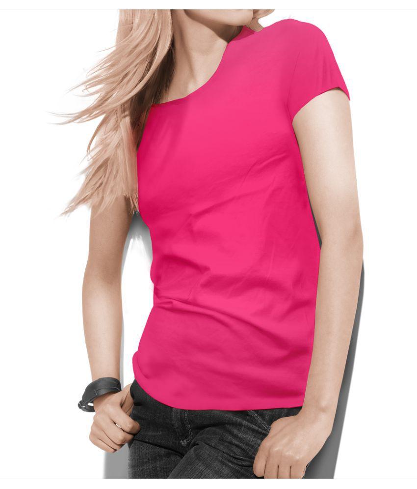 Teestra Cotton Pink T-Shirts