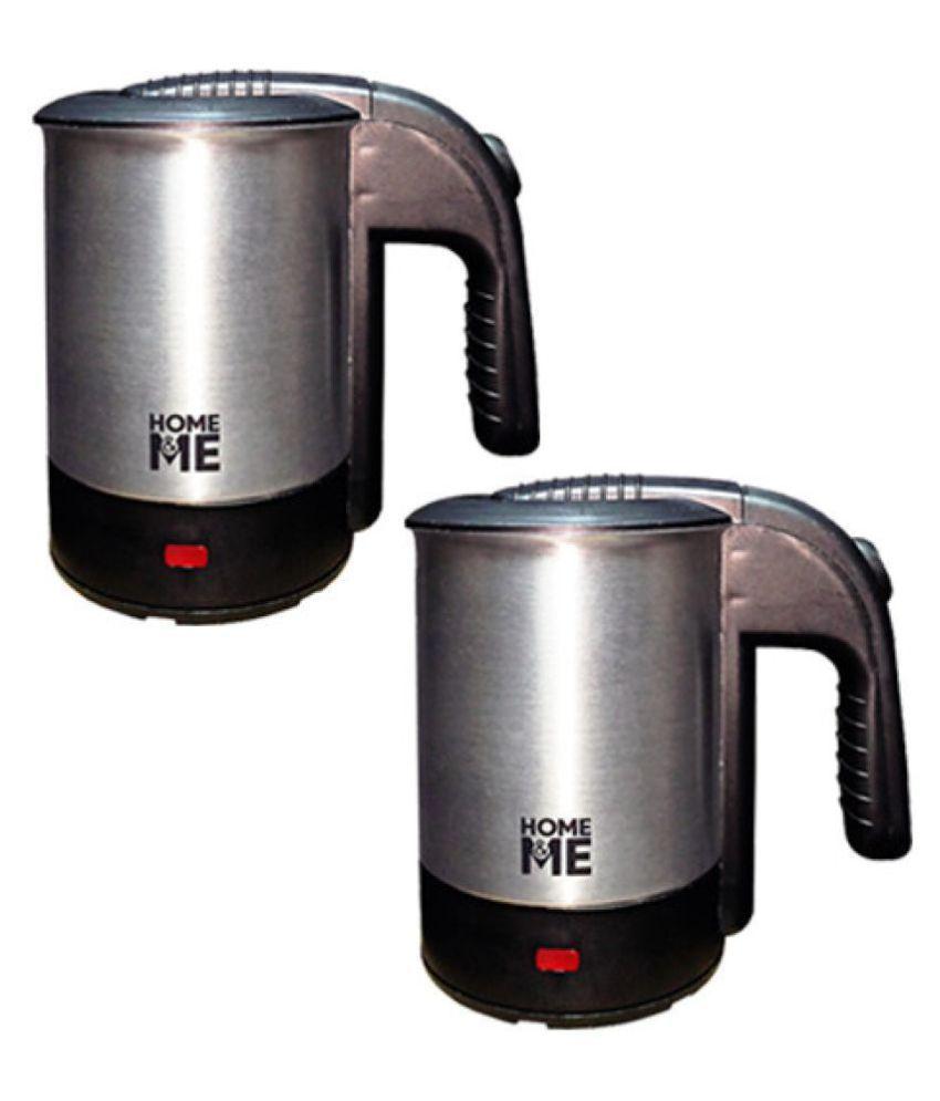 Home&Me ElectricKettle Combo 0.5 Liter 1000 Watt Stainless Steel Electric Kettle
