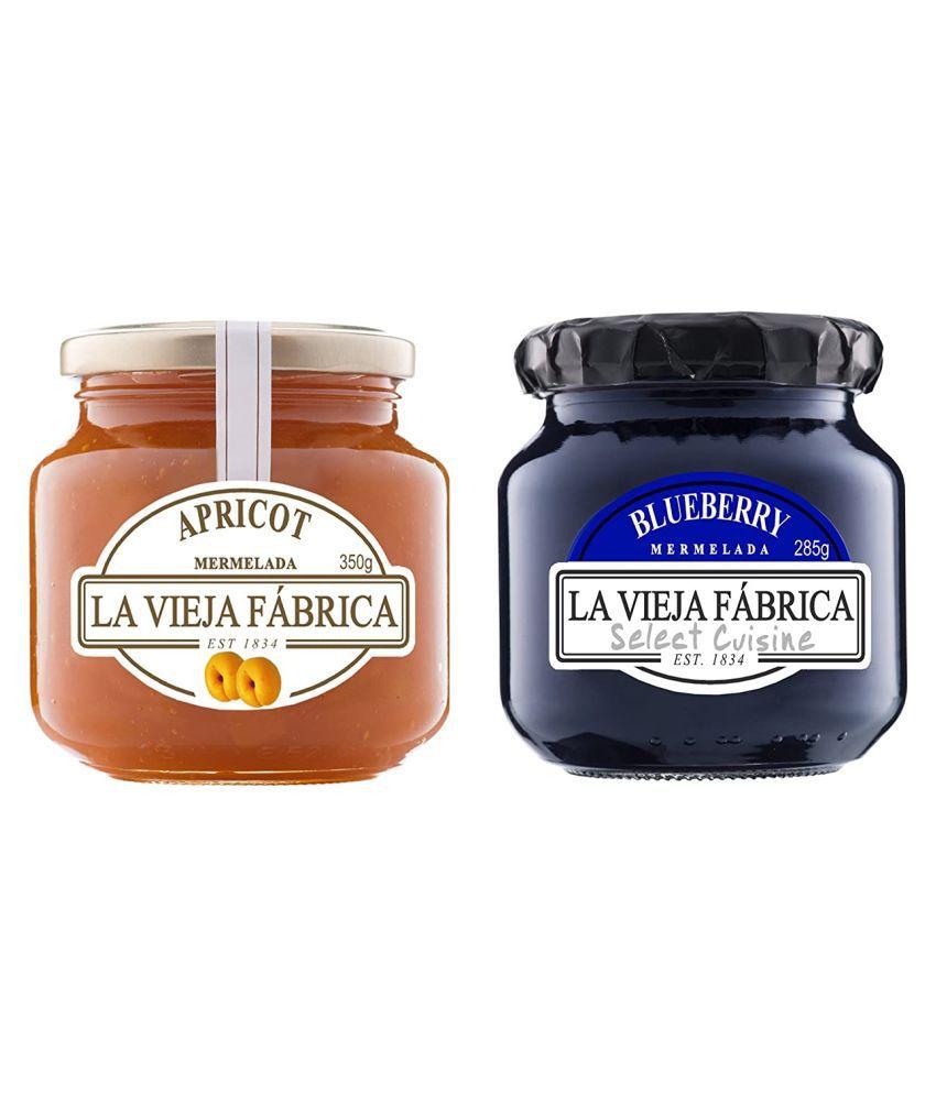 LA VIEJA FABRICA BLUEBERRY+APRICOT Jam 635 gm Pack of 2