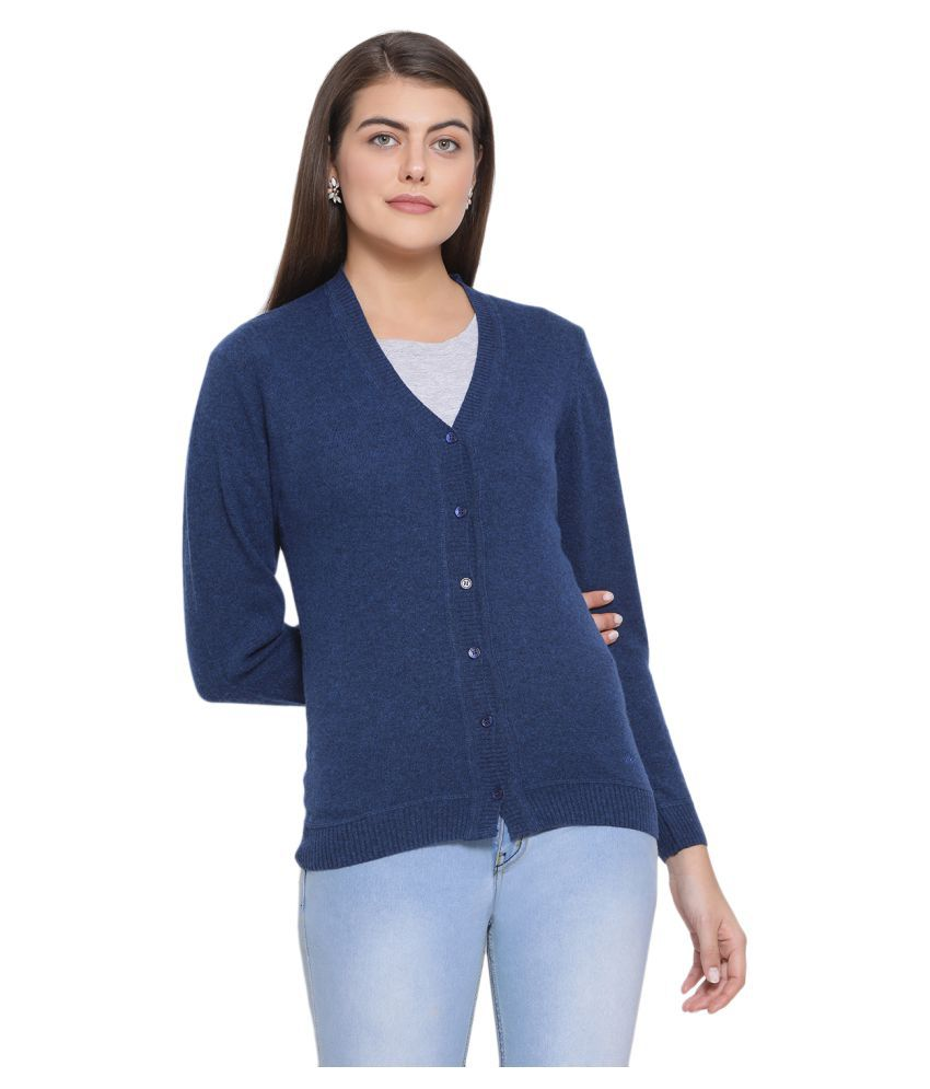 Monte Carlo Pure Wool Blue Buttoned Cardigans