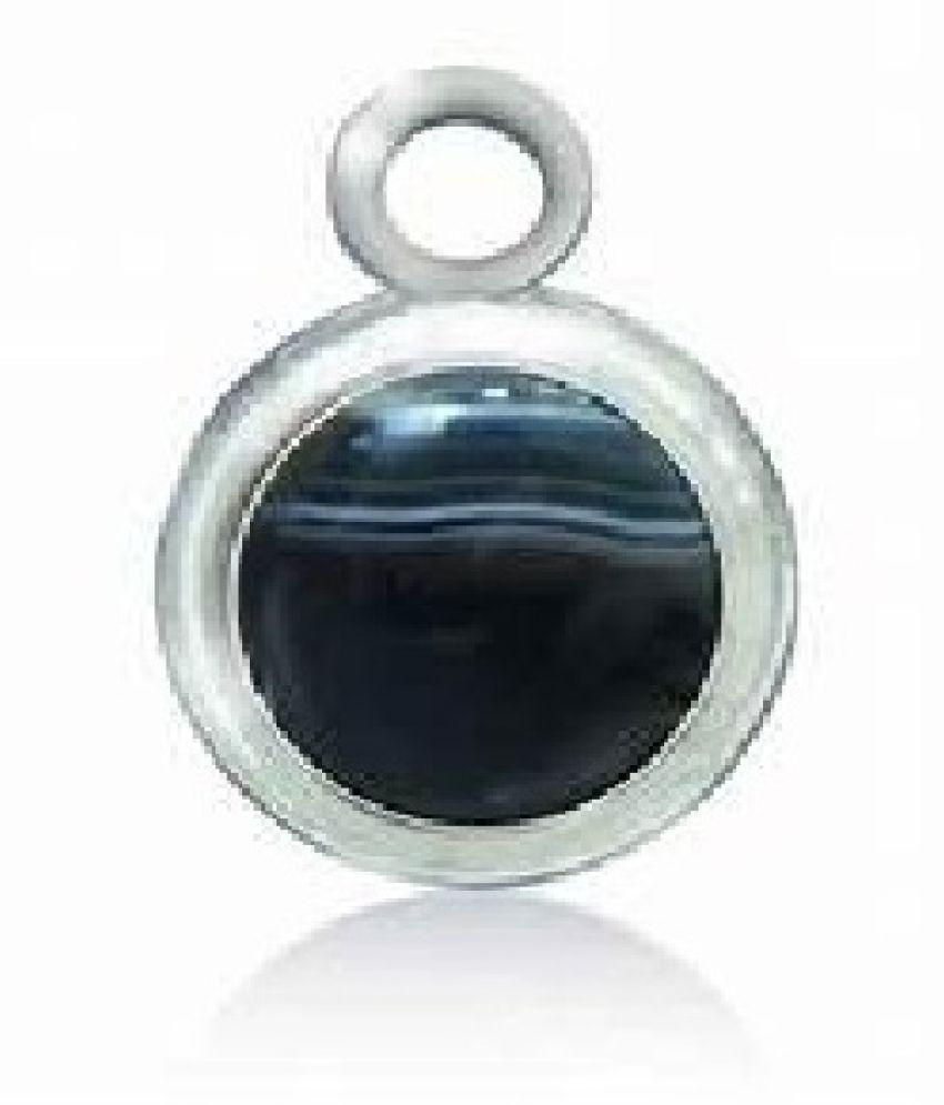 silver Sulemani Hakik Pendant 5.5 ratti Moti Locketwithout chain by Kundli Gems