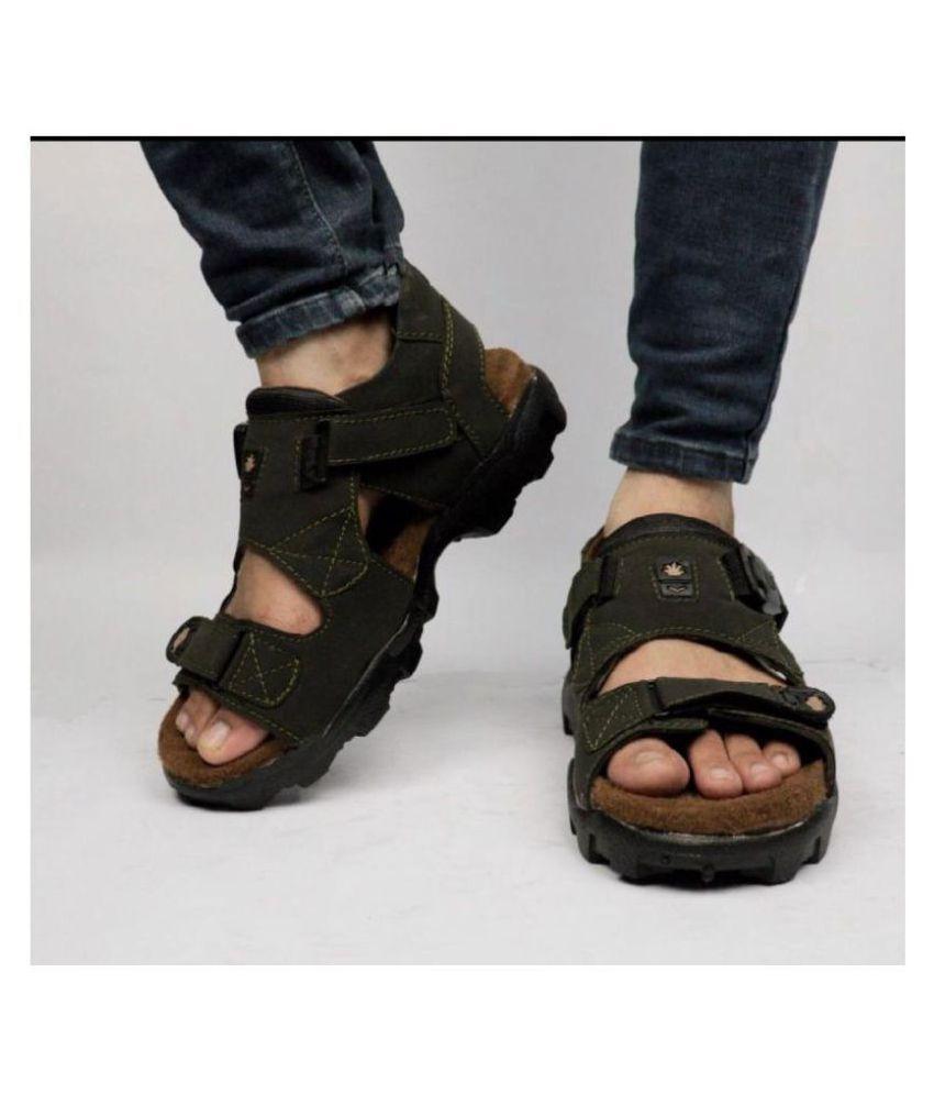 Ccrross Feet Green Nubuck Sandals