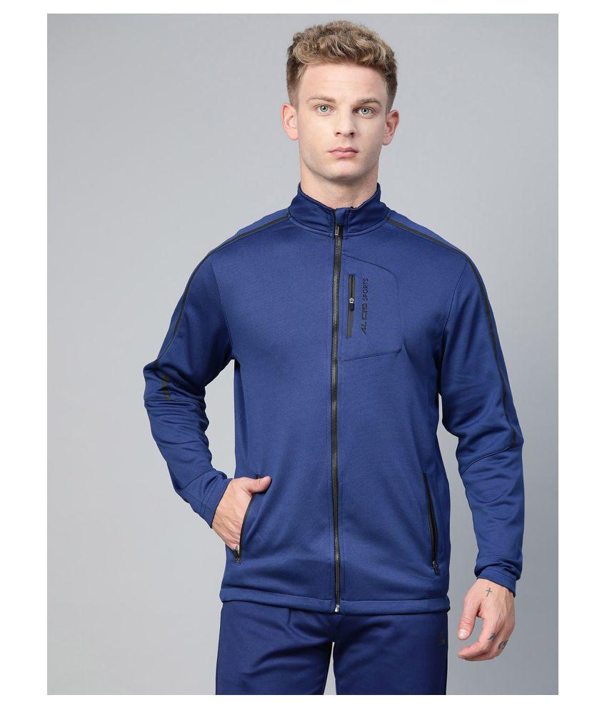 Alcis Blue Polyester Jacket Single Pack