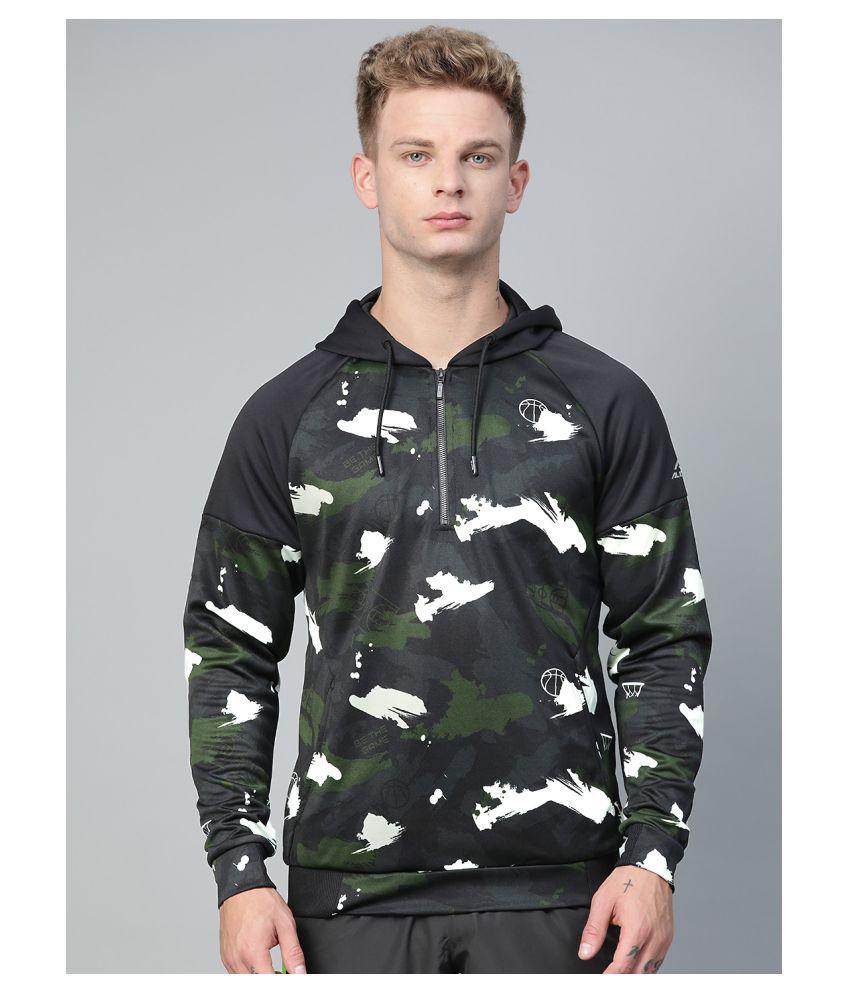 Alcis Olive Polyester Sweatshirt Single Pack