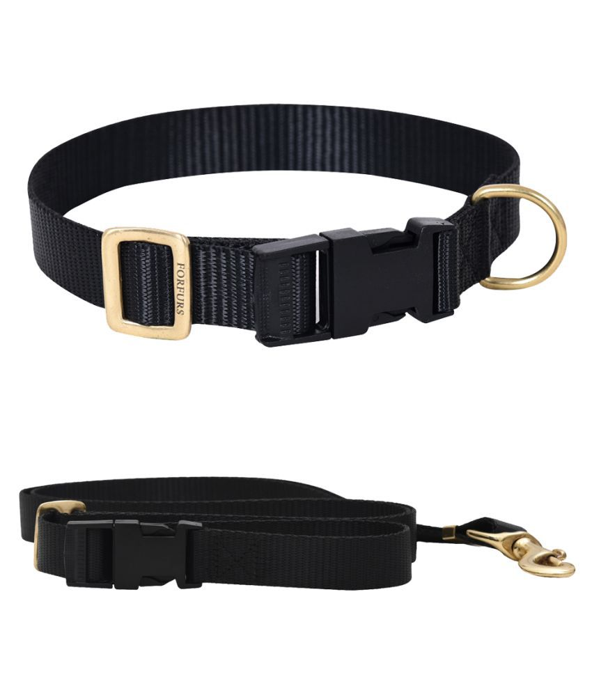 FORFURS Classic Snap Collar and Adjustable Leash Set (Small, 11-15 Inch, Ultra Voilet)