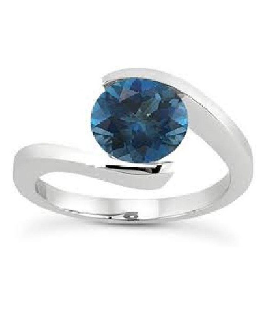 Lab Certified topaz Ring Unheated & Natural topaz/Moti silver Ring byRatan Bazaar