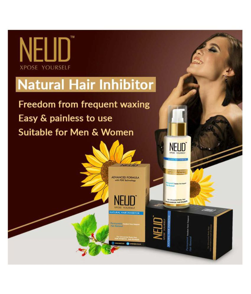 NEUD Natural Hair Inhibitor for Men & Women Hair Removal Lotion 80 g