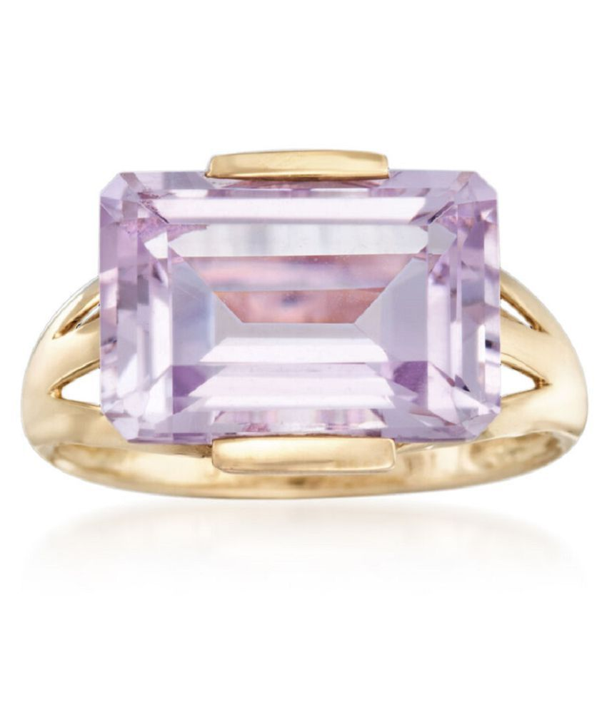 7 carat only Amethyst Ring with Natural Amethyst & Lab Certified Gold Plated Amethyst by Ratan Bazaar