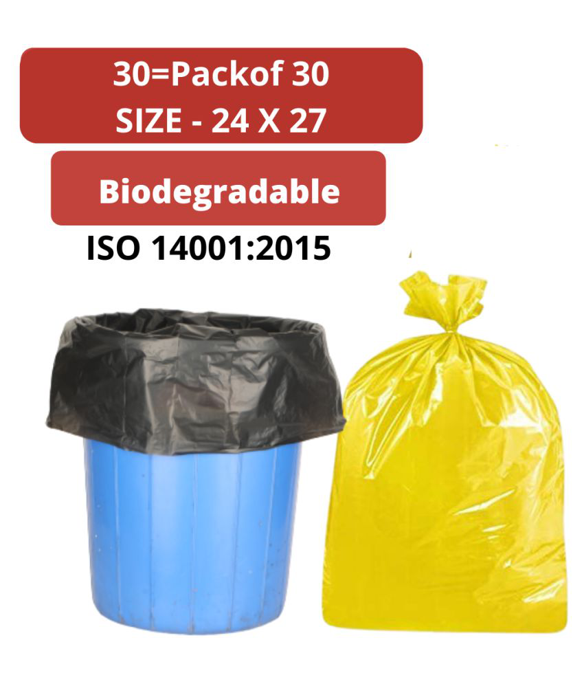 Biodegradable Heavy Duty Garbage bags 24 by 27 pack of 30