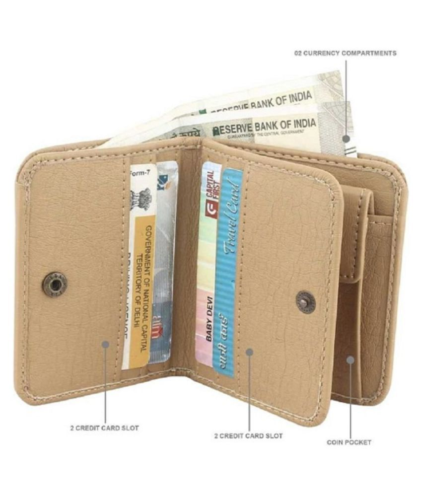LUXIQE Faux Leather Tan Casual Regular Wallet