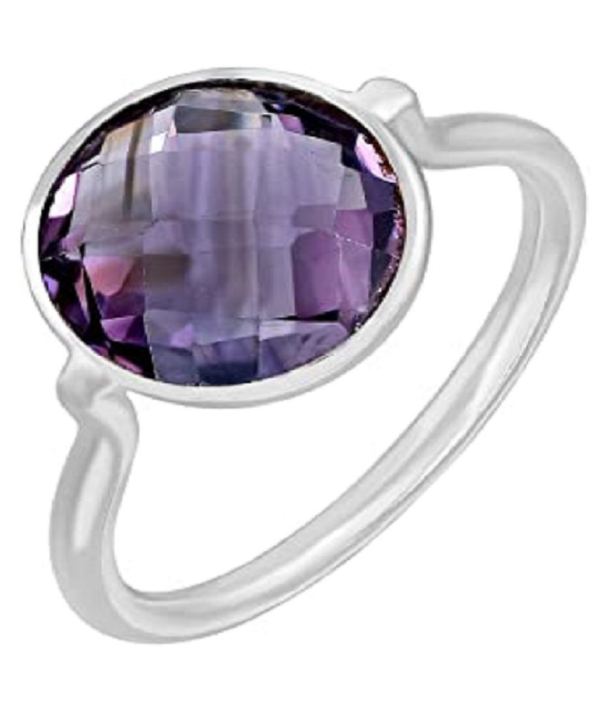 Natural Amethyst 9.25 Carat   silver Ring  by KUNDLI GEMS\n