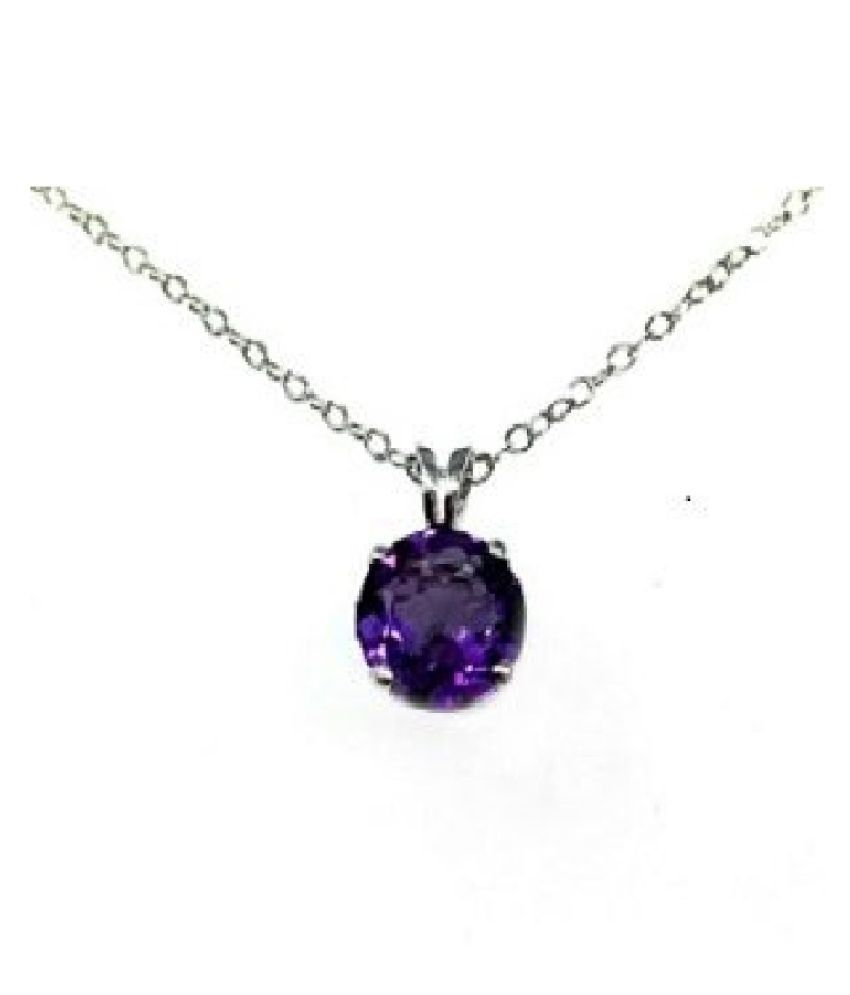 5 Ratti Amethyst Pendant with Natural Silver Amethyst Stone without chain by Ratan Bazaar