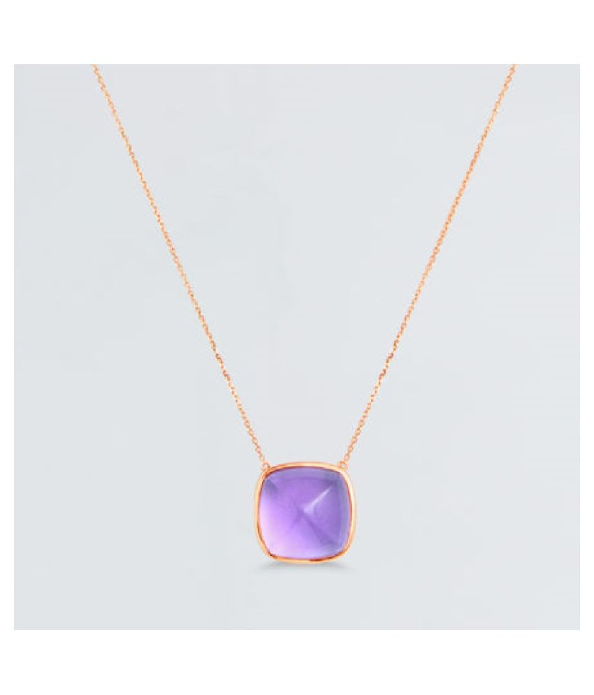 Pendant 6 ratti Natural Amethyst Silver Pendantwithout chain by Ratan Bazaar