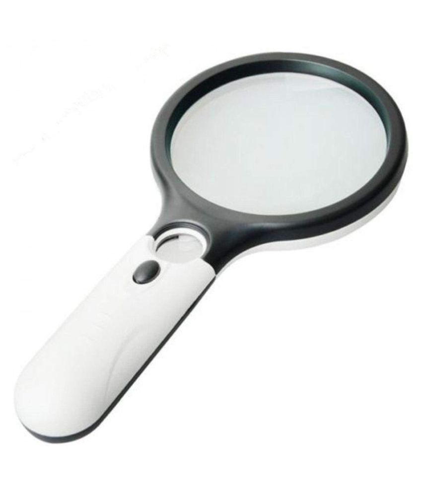 LED Light Handheld Magnifier Reading Magnifying Glass Lens Jewelry Loupe