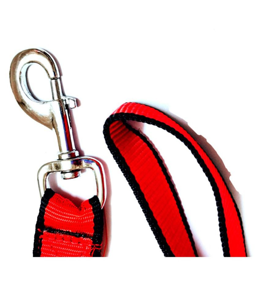 RED WITH BLACK BORDER LEAD FOR DOG