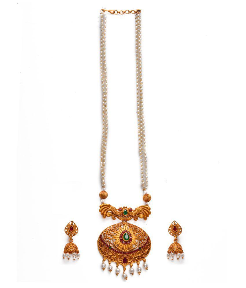 Alankruthi Eye Flower Shape Matte Mala Set