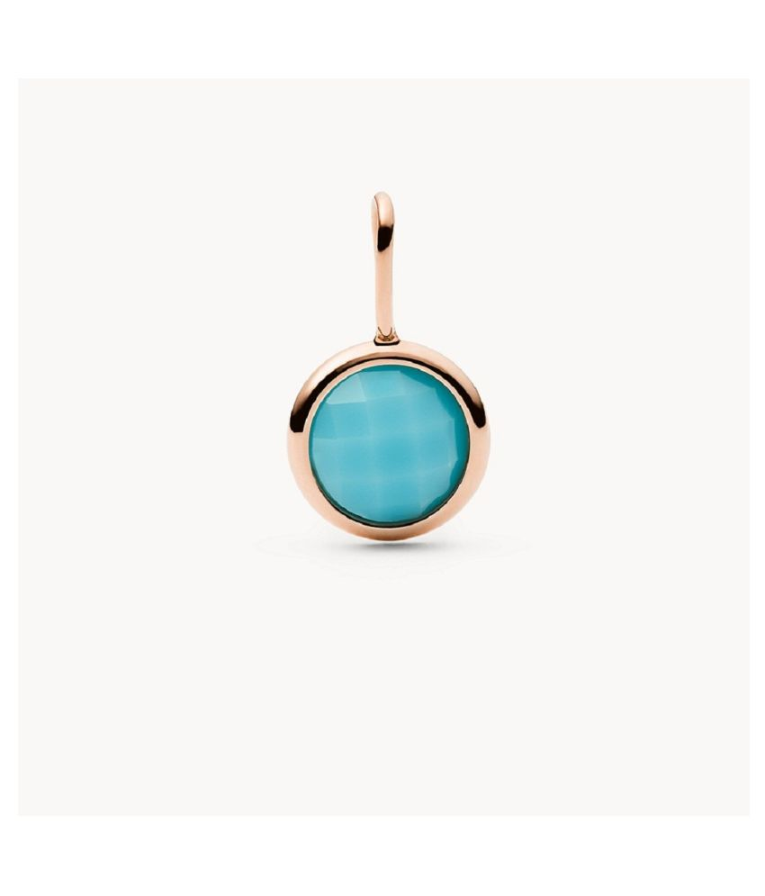 12 Ratti Turquoise Pendant With Natural Gold Plated Stone Pendant without chain by Kundli Gems